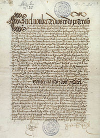 Front page of the Treaty