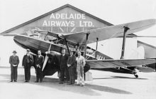 Adelaide Airways 1936-De Havilland DH89A VH-UVT.jpg
