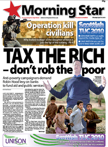 Morning Star front page 19 April 2010 .PNG
