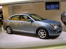 A second generation Nissan Bluebird Sylphy at the 2005 Tokyo Motor Show.
