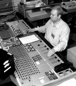 Engineer at audio console at Danish Broadcasting Corporation.png