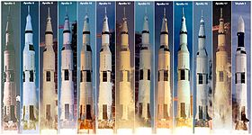 Saturn V launches, 1967–1973