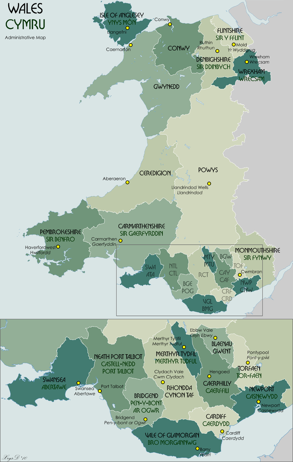 Wales Administrative Map 2009.png