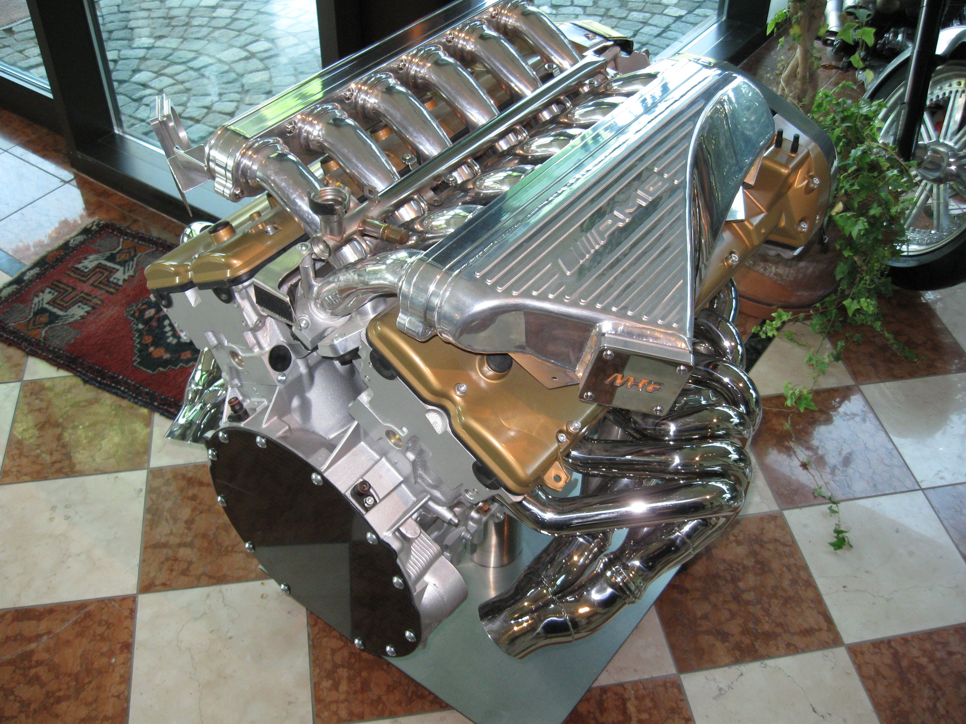 Mercedes Amg Bmw V12 Engine Diagram Display At The Pagani Factory