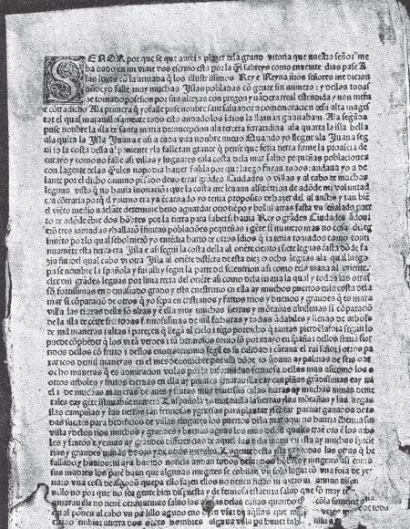 Christopher Columbus Letter To King Ferdinand.Columbus Letter On The First Voyage
