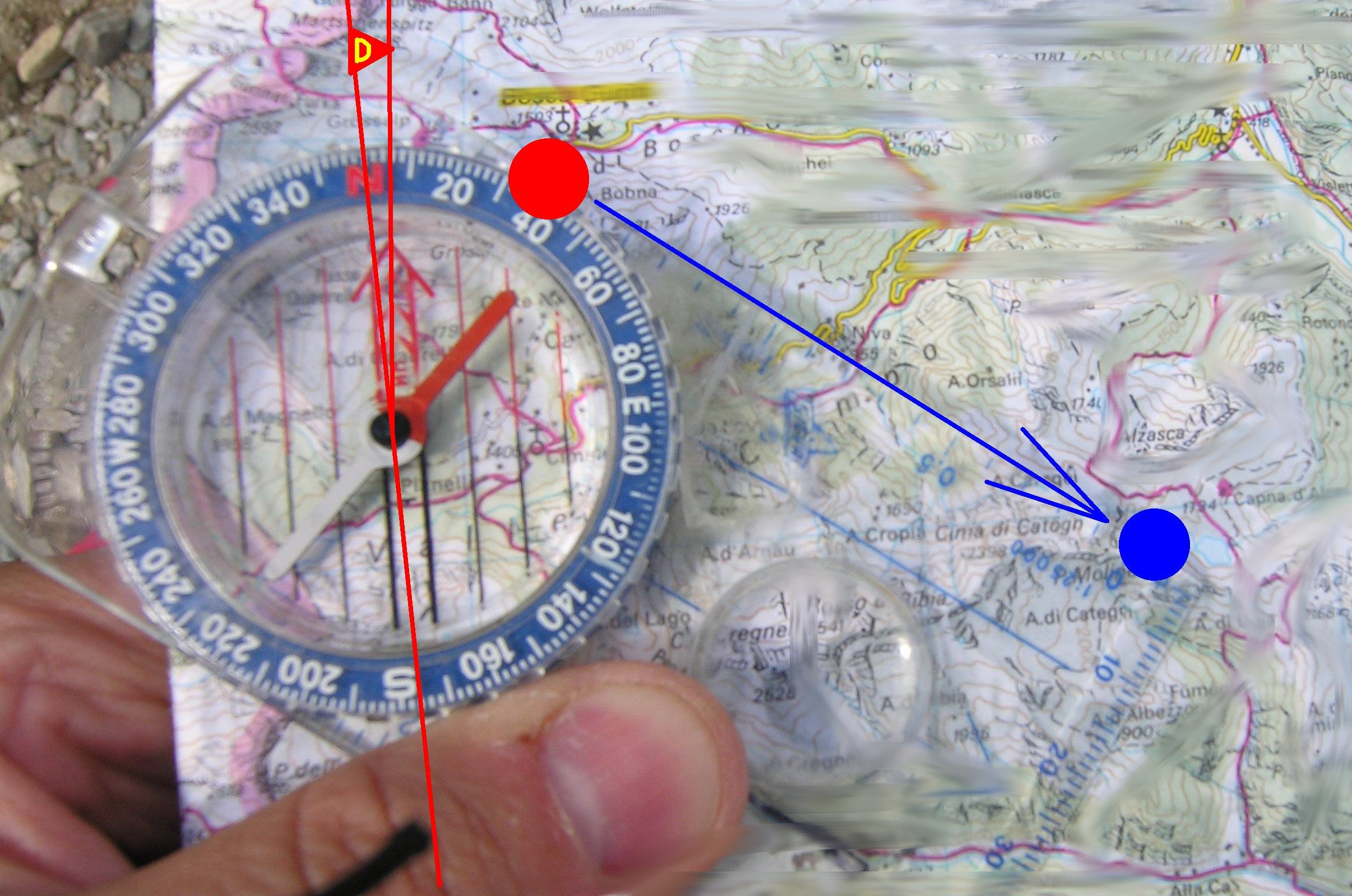 Find North with the Compass Map