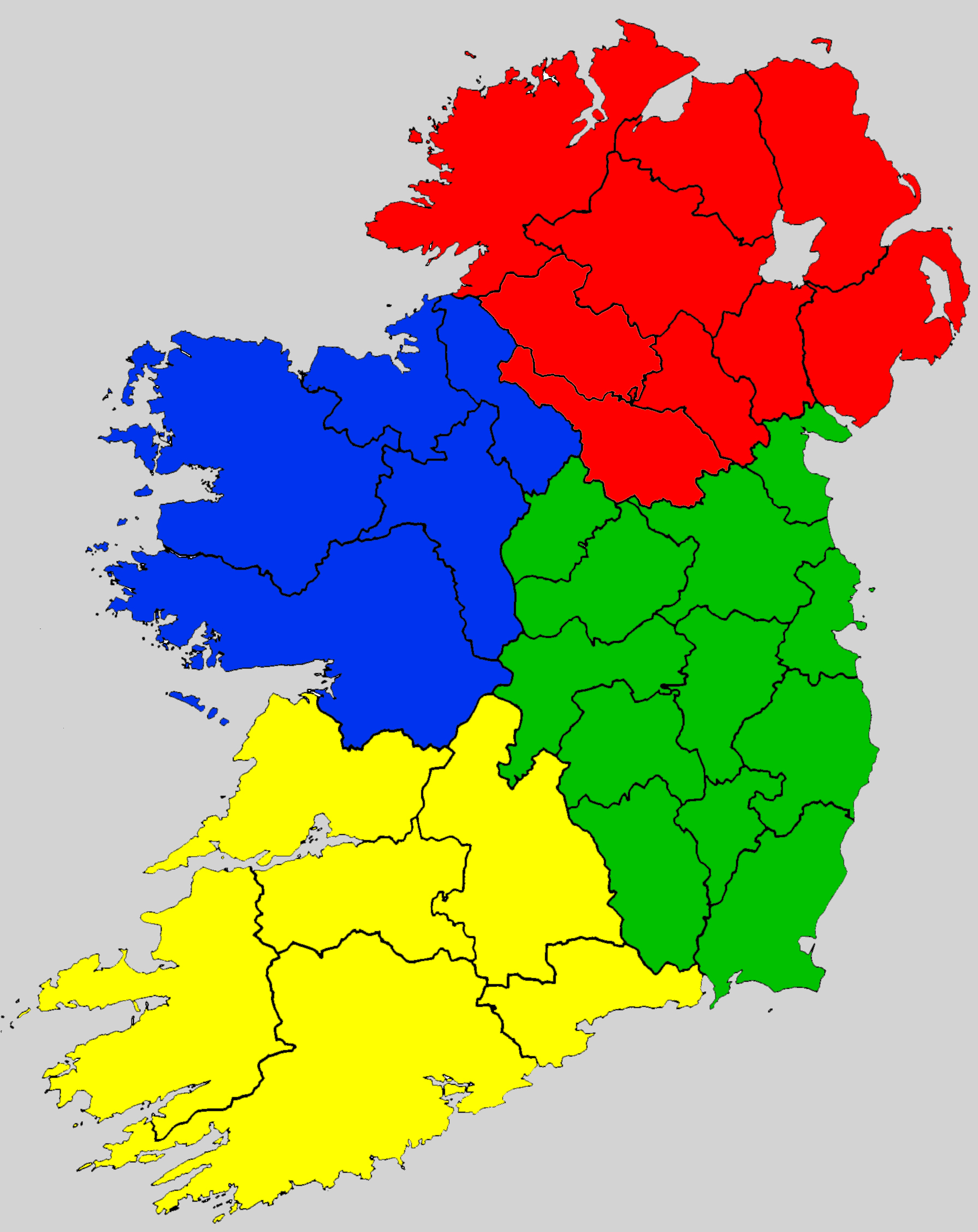 Empty Map Of Ireland.Provinces Of Ireland