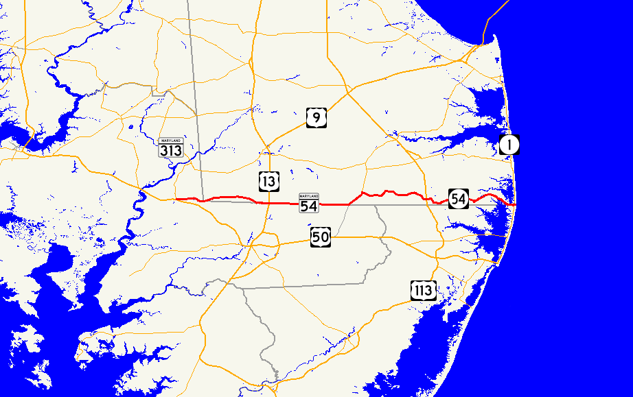 📌 Route 54 (Delaware–Maryland)