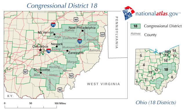 📌 Ohio's 18th congressional district on house of representatives florida map, house of representatives current makeup, house of representatives apportionment map, house of representatives map 2014,