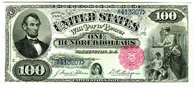 📌 United States one hundred-dollar bill