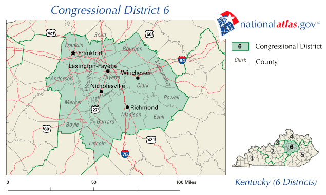 📌 Kentucky\'s 6th congressional district