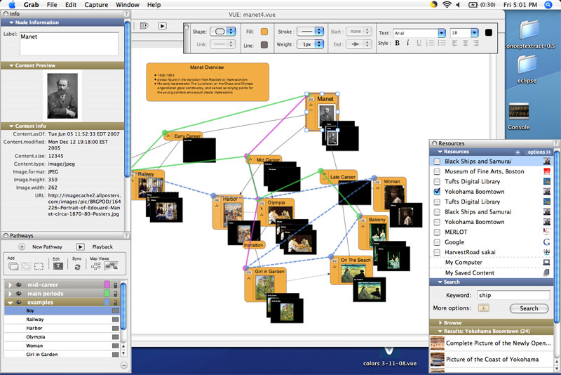 List of concept- and mind-mapping Network Mapping Mac on