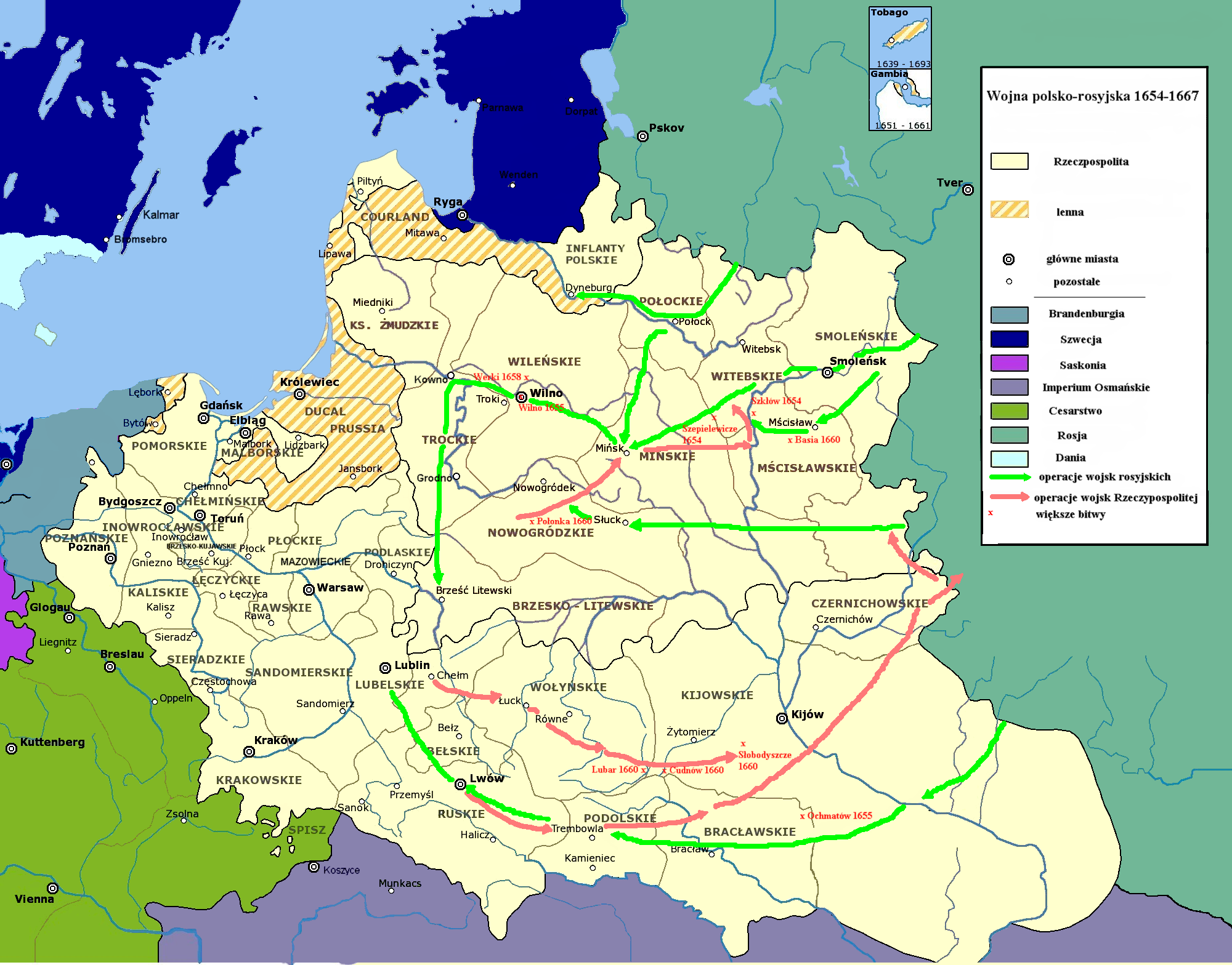 Polish-Russian War 1654–1667